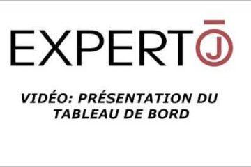 Expert.j • Vidéo : Présentation du Tableau de Bord